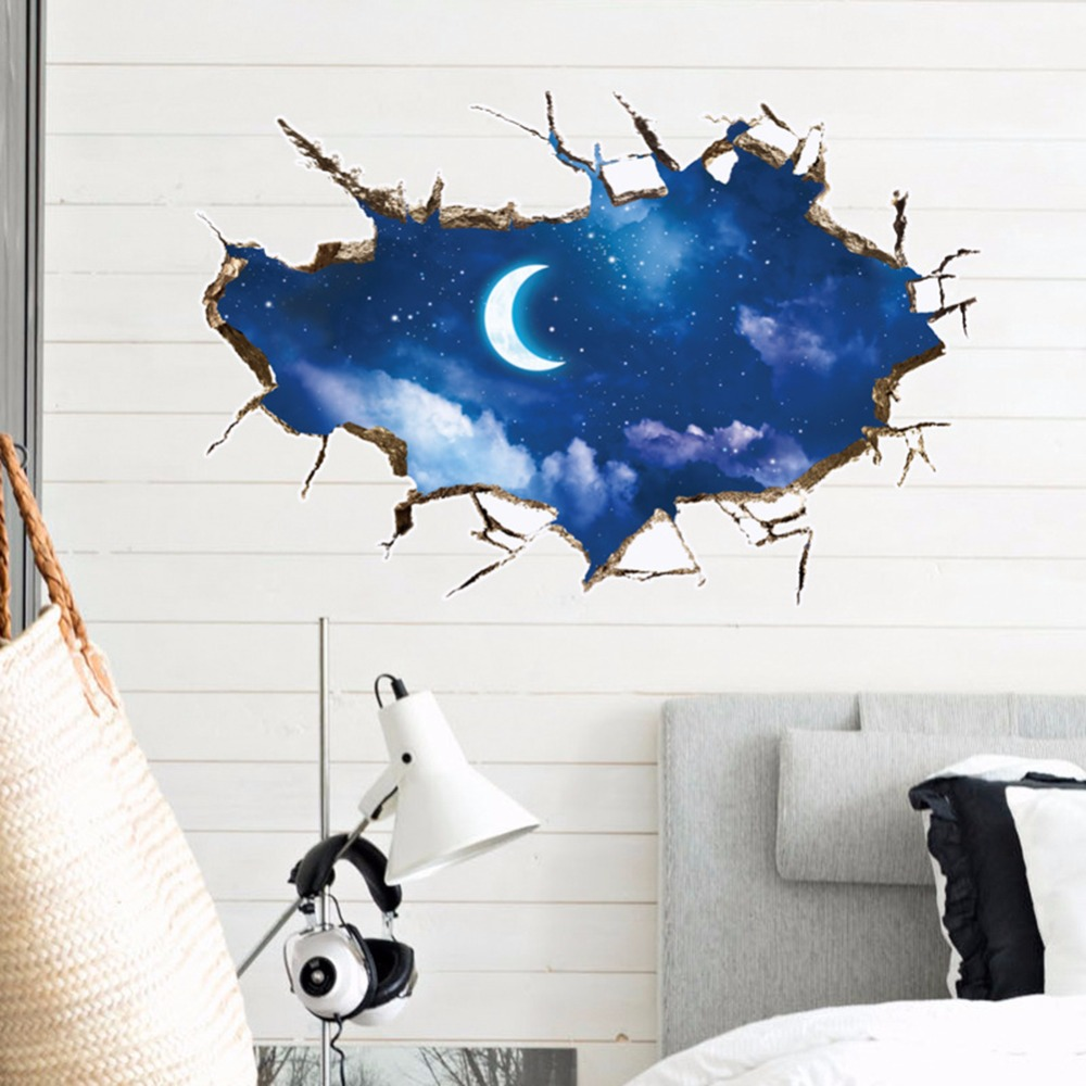 Outer E Wall Sticker Starry