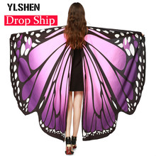 Chamsgend Drop Shipping HOT Women Butterfly Wings Pashmina Shawl Scarf Nymph Pixie Poncho Costume Accessory Peacock