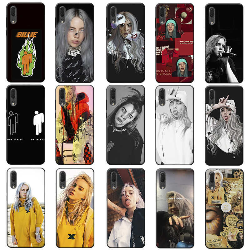 Music Singer Star Billie Eilish Soft Silicone Phone Case for huawei mate 30 pro p20 p30 pro  mate 20 pro  mate 20 lite