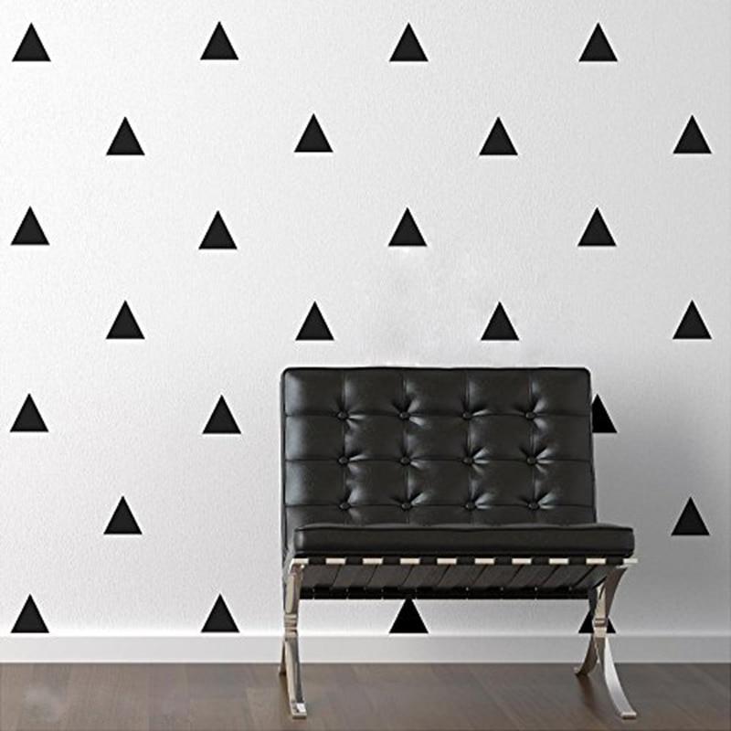 A021 Triangle nástěnné samolepky na vinylové obtisky pro školky Umělecké dekorace na zeď Nástěnné samolepky do dětského pokoje