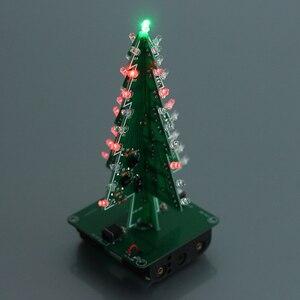 Image 5 - 5 個 7 色 3D クリスマスツリー LED フラッシュ DIY キット立体カラフルな RGB 回路キット電子楽しいスイートクリスマスギフト