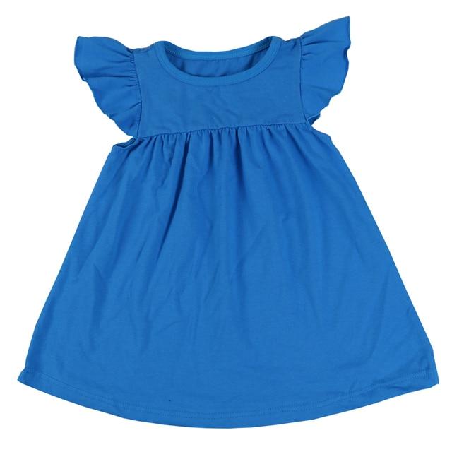 MUDBALA Flutter Smocked Desgaste Das Crianças Meninas Da Criança Boutique Vestido de Malha de Algodão Branco Menina Adolescente Vestidos Diárias