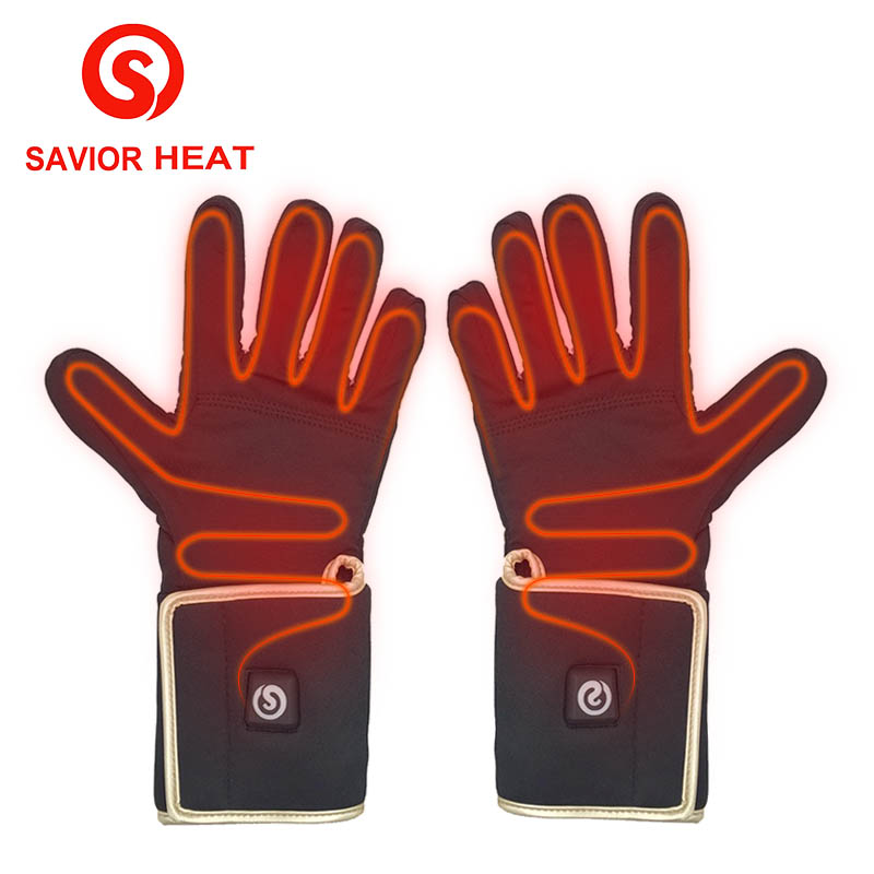 SAVIOR HEAT Outdoor Hunting Electric Warm Heated Gloves Battery Powered For Winter Warmer 3 Levels Control 3-6 Hours Heating 1 pair 4000mah rechargeable battery with smart switch on off electric heated warm glove winter outdoor work ski warmer gloves
