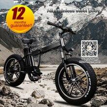 48 В 350 Вт 10Ah литиевых Электрический складной взрослых широкие шины Снег велосипед 20 дюймов e велосипед складной аккумулятор велосипед для s