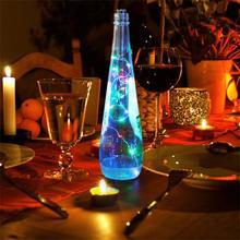 LED Wine Bottle Cork Light Pack of 1/3/6pcs Valentines Day Home Decoration String light D20