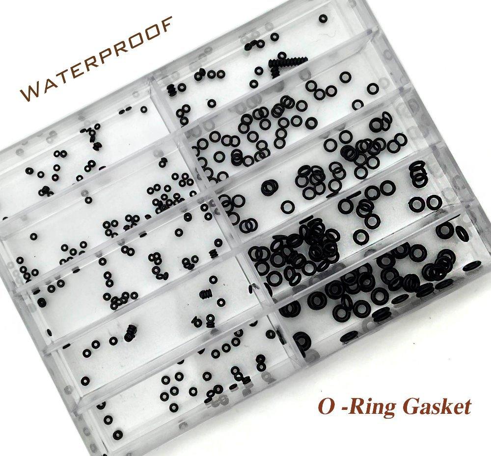Prix pour 10 taille montre en caoutchouc O - Ring joint Set pour montre couronne pièces de réparation de montres étanches horloger Set outil Kit Herramientas