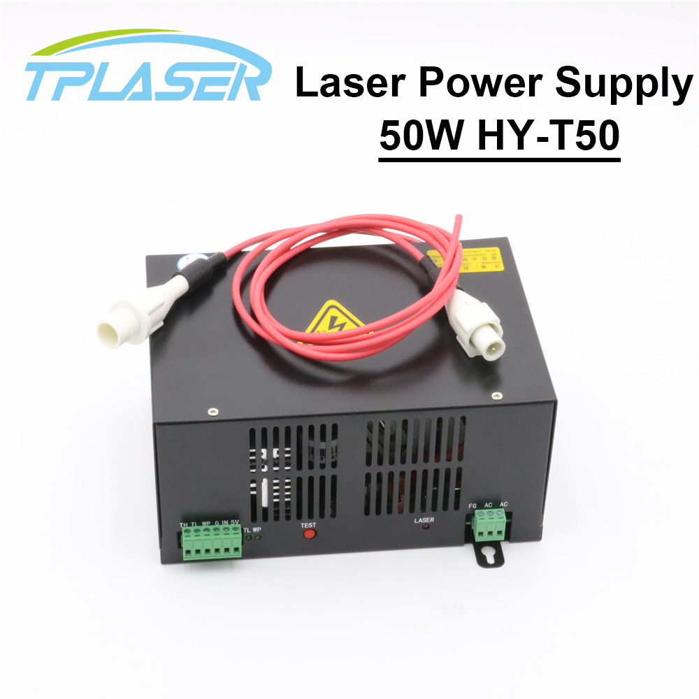 50W CO2 Laser Power Supply for CO2 Laser Engraving Cutting Machine HY T50 T / W Series