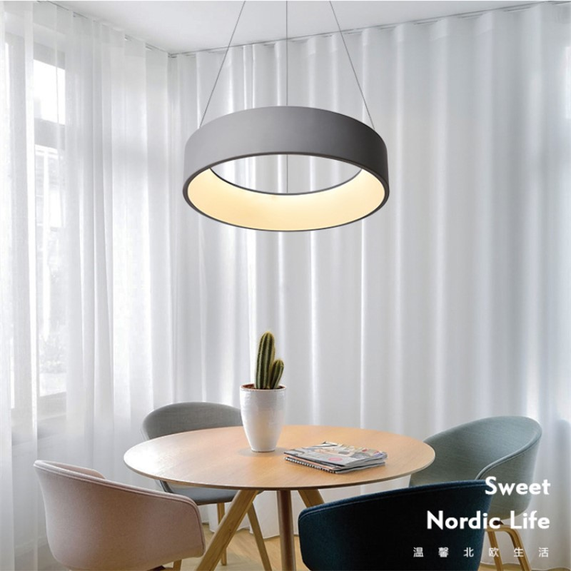 2018 New Nordic Macaron Cafe Pendant Light Post-modern Living Room Restaurant Lamp Denmark Designer Creative Bar Saucer Lamp nordic post modern crown pendant lights art denmark creative bar living room decoration light fixtures with led bulbs