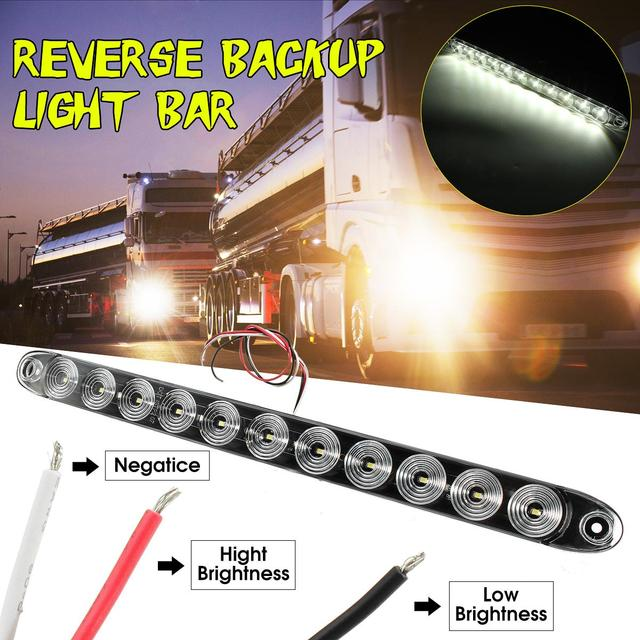 15 11 led car truck trailer light white surface stop turn signal tail reverse backup light bar in car light assembly from automobiles motorcycles 15 11 led car truck trailer light white surface stop turn signal tail reverse backup mozeypictures Choice Image