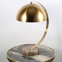 Американская настольная лампа стиль металлическое покрытие мрамор База свет стола гостиная современный кабинет творческий спальня настол