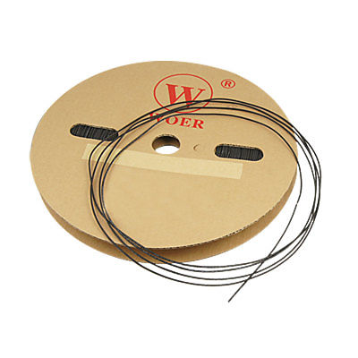 200M Length 1mm Dia Heat Shrink Shrinkable Tube Black retardant heat shrink tubing shrinkable tube diameter cables 120 roll sale