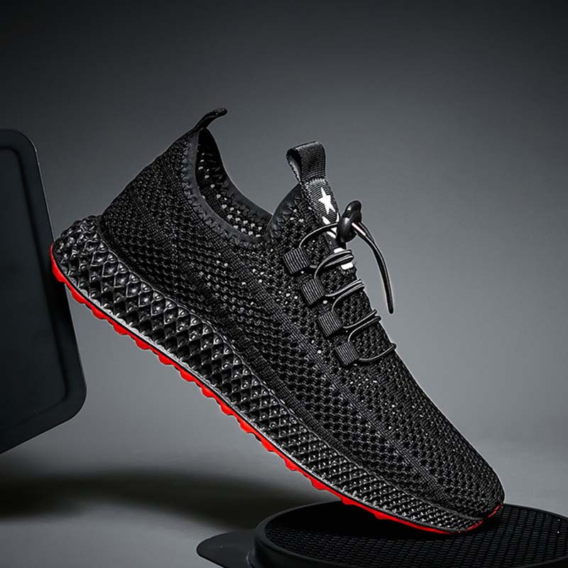 2019 New Mesh Men Casual Shoes Lace-up Men Shoes Lightweight Comfortable Breathable Walking Sneakers Rubber Soft Bottom Non Slip