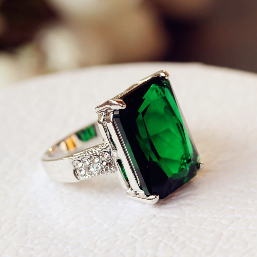crystal jewellery plated gold captureqq latest ring green rings designs stone