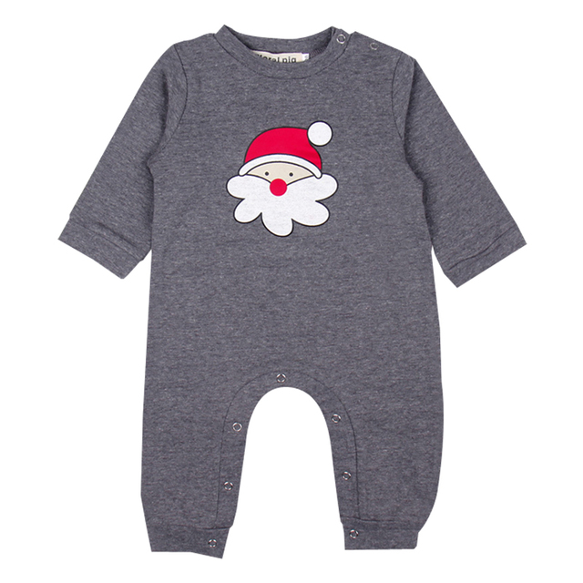 9ddd58f0967 Floral Pig Baby Xmas Long Rompers Newborn Baby Unisex Long Sleeve Cartoon Santa  Claus Print Jumpsuits Baby Christmas Clothes