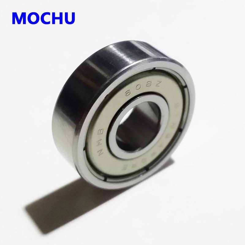 8pcs 8mm Shielded New NMB bearing 608 608z 608zz Ball Bearings 8mmX22mmX7mm Kick Scooter Skateboards Roller Blade Inline Skating