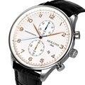 Tamanho Grande Dial Data Dos Homens Relógios de luxo Relógios de Quartzo Tiem Presente 50ATM Relógio Cronógrafo Masculino Relógio de Pulso À Prova D' Água