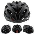 VICTGOAL Matte Black Bicycle Helmets Men Women Helmet Back Light Mountain Road Bike Integrally Molded Cycling Helmets K1040