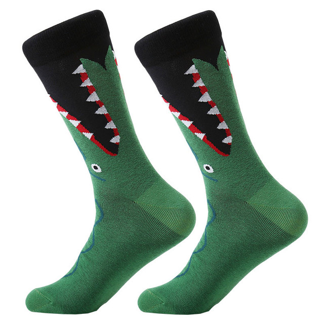 Cotton Cartoon Animal Bird Shark Zebra Funny Socks 15