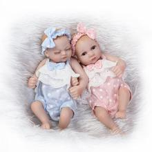 28cm kawaii Full Silicone Body Girls Baby Doll Reborn 11Inch Bebe Reborn Babies Newborn Baby Toys for Children Gift Juguetes цена 2017