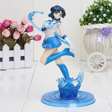 20cm Sailor Moon Sailor Mercury Ami PVC Action Figure Model Toy Doll Sailor Moon Figure
