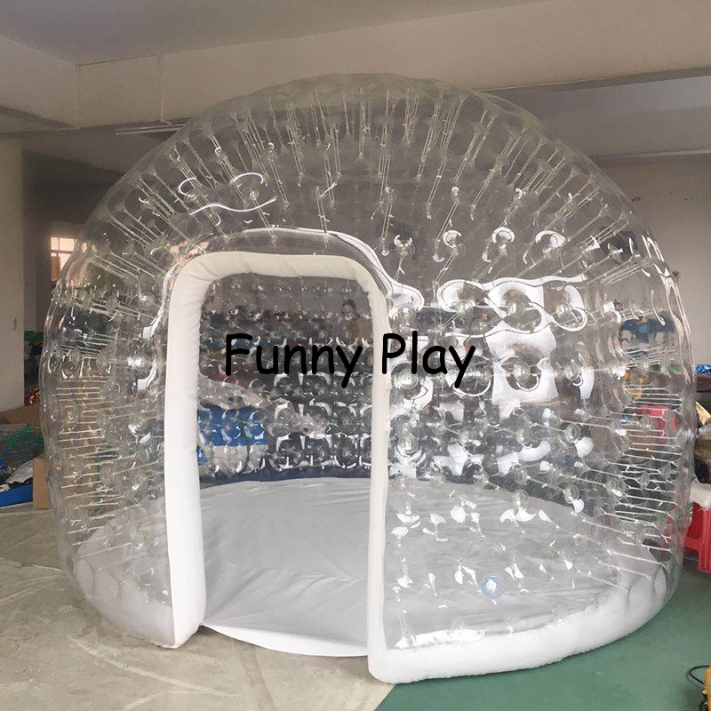 5m 6m giant Family Camping Backyard hotel exhibition,luxury air tight inflatable house tents camping bubble tent free shipping