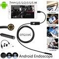 1 М/1.5 М/2 М/3.5 М 7 мм Объектив HD 480 P USB Эндоскоп Водонепроницаемый 6 Светодиоды Осмотр Трубы Камеры Эндоскопа Бороскоп Для Телефона Android ПК