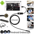 1 M/1.5 M/2 M/3.5 M 7mm Lente HD 480 P USB Endoscópio Impermeável 6 LEDs Câmera de Tubo De Inspeção Endoscópio Endoscópio Para O Telefone Android PC