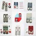 56 nova Japonês terry meias de algodão dos desenhos animados do sexo feminino em linha reta quente grosso escovado AB meias de Natal Natal meias calcetines