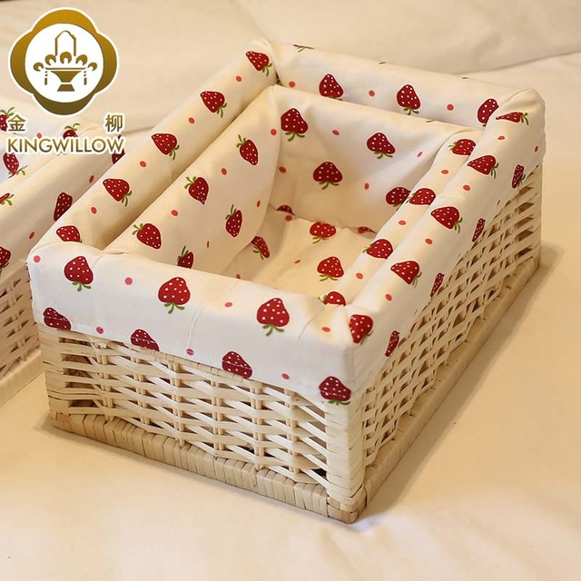 Gold Home Straw Braid Storage Box Desktop Liubian Cloth Flapless White  Rattan Basket Rustic Storage Baskets