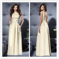 Vestido De Festa Longo 2017 Wholesale Bridesmaid Dress High Classic Simple Style Floor Length Open Back Bridesmaid Dresses BR-31