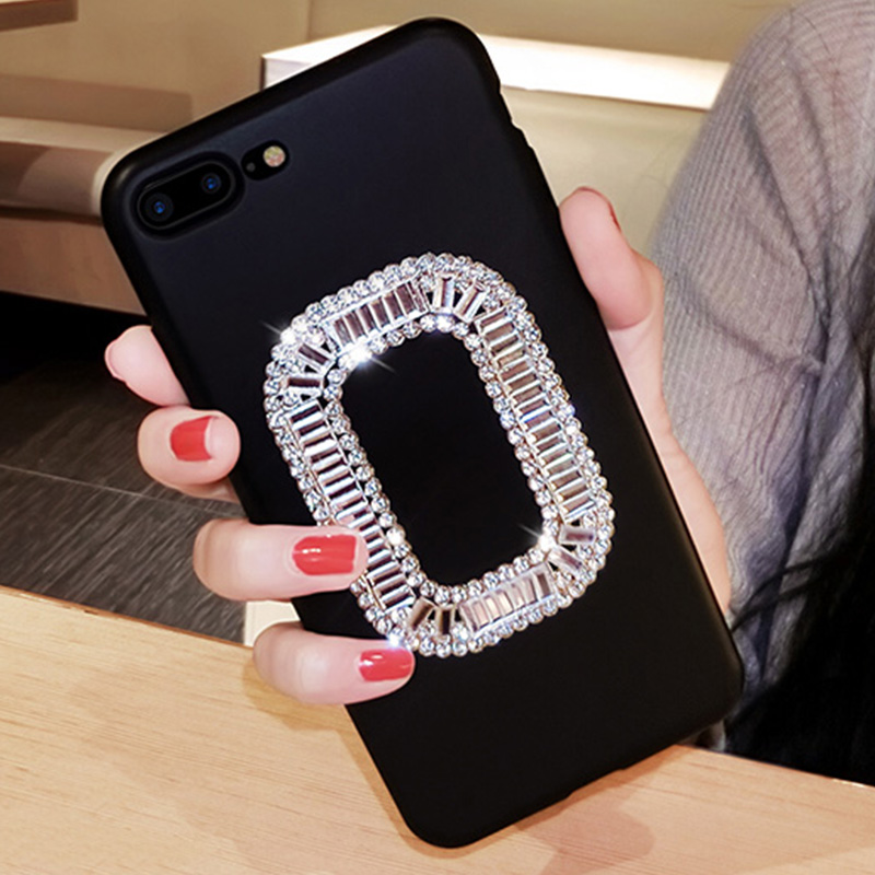 Luxury Bling Rhinestone Red Case Cover for iPhone X iPhone 10 8 7 6s 6 Plus 7Plus Glitter Silicone Diamond Cases Woman Girls