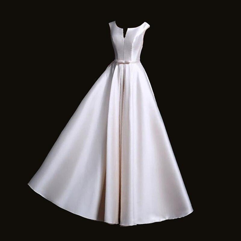 2018 Nieuwe Robe De Soiree Mode Banket Elegante Avondjurk De Bruid Mix Kleuren Satin Kleine Sash Lange Party Prom Jurken Helder In Kleur
