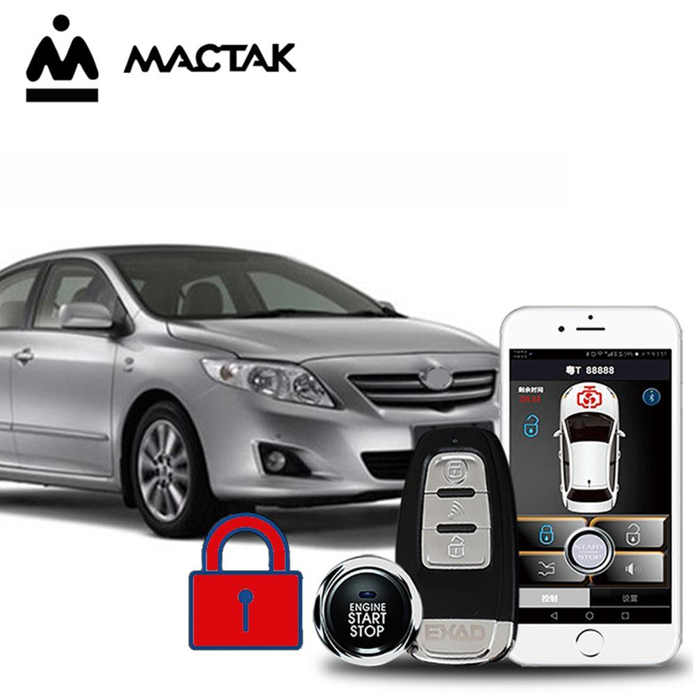 MACTAK Corolla 2013 car accessories Keyless Entry Comfort System PKE Phone APP Remote Start Car Engine Car Alarm Push 963 in Burglar Alarm from Automobiles Motorcycles