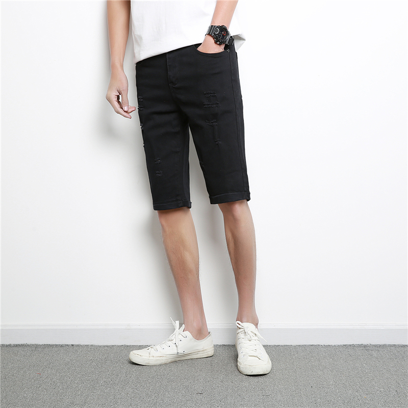 Denim Short Casual Hole Jeans
