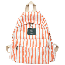 Fresh Backpack 100% Cotton Canvas School Bag for Teenage Girls England Style Strips Leisure Or Travel Bag for Women Soft Package все цены