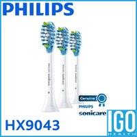 Philips Adaptive Clean Replacement Toothbrush Heads HX9043 05 White 3 Count Brush Head Toothbrush