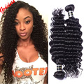 7A Eurasian Virgin Hair Deep Wave Virgin Hair 4 Bundles Eurasian curly Weave Human Hair Extensions Eurasian Deep Curly Hair