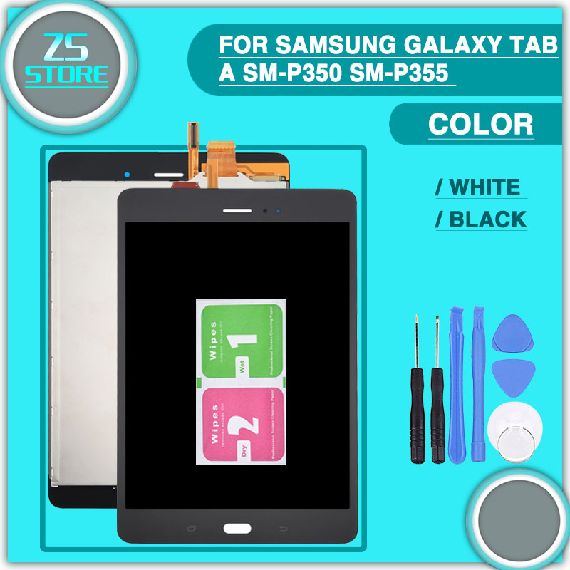 New p350 lcd touch panel For Samsung Galaxy Tab A SM-P350 P350 SM-P355 P355 Display and Touch Screen Digitizer Assembly + too волшебная палочка