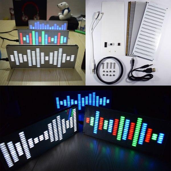 Bricolage grande taille contrôle tactile 225 Segment LED égaliseur numérique spectre de musique Kit dondes sonores
