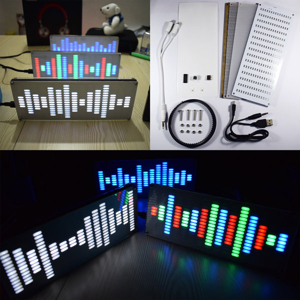Touch-Control Sound-Waves-Kit Equalizer Music Spectrum 225 Segment LED Digital DIY Big-Size title=