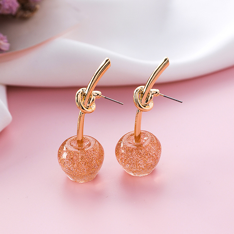 Cute/romantic Round Women Dangle Earrings Sweet Cherry Cherry Earrings Earrings For Women Drops Earrings 7