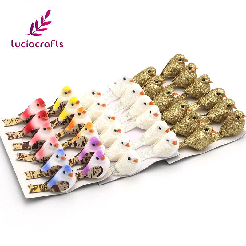 US $2.98 |Lucia crafts 12pcs/lot 2.5*5cm Foam Artificial Birds Party Wedding/Part/Christmas DIY Scrapbooking Decoration 18010008(2.5*5D12)-in Artificial & Dried Flowers from Home & Garden on Aliexpress.com | Alibaba Group