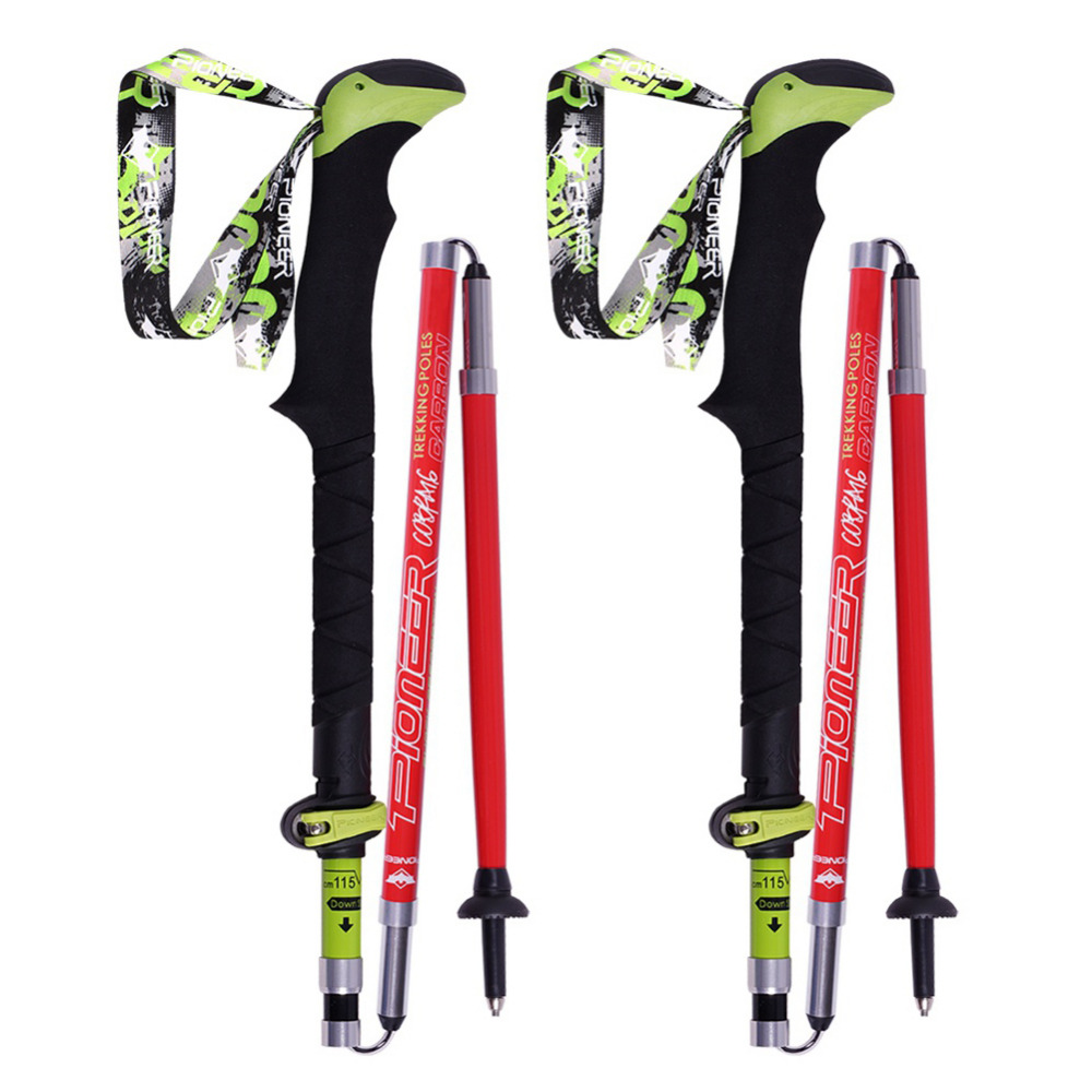 2017 1 pair Telescopic Hiking Alpenstock Carbon Fiber Ultra-light Climbing Cane Foldable Ski Pole Walking Sticks V2 1 pair boxing training sticks target mma precision training sticks punching reaction target muay thai grappling jujitsu tools