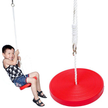 SAILEROAD Children Swing Disc Toy Seat Kids Swing Round Rope Swing Outdoor Playground Hanging Garden Play Entertainment Activity cheap Wood In-Stock Items SAILEROADSWINGS-002 Sports Please play under the care of parents Type 12-15 Years 5-7 Years Grownups