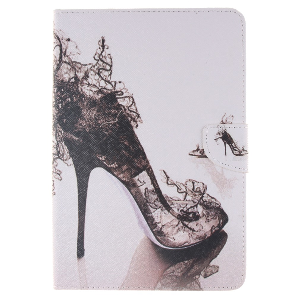 Foldable PU Leather Pad Cover With High Heeled Shoes Style Support Stand for iPad Mini 1 Min 2 Mini3