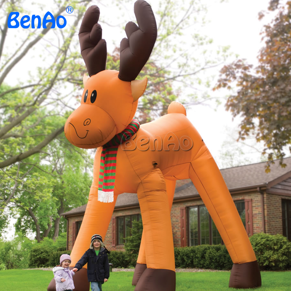 X102 BENAO Hot sale giant inflatable reindeer,inflatable christmas reindeer for sale 3m diameter empty inflatable snow ball for advertisement christmas decorations giant inflatable snow globe