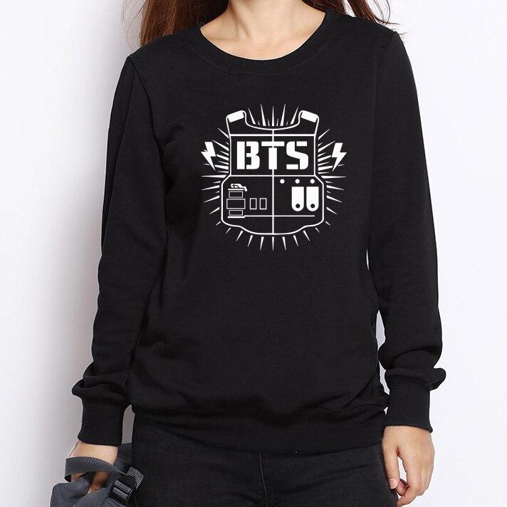 Kpop Bts Harajuku Bangtan Boys Women Hoodies Sweatshirt Tracksuits Women Autumn Winter Outerwear Long Sleeve Bts Logo Plus Size