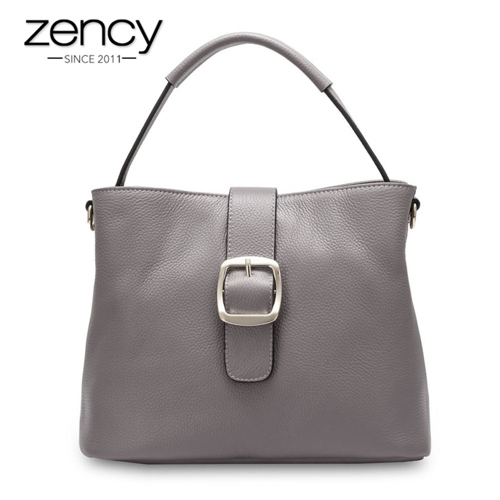 цена на Zency Famous Brand Women Tote Bags 100% Genuine Leather Cowhide Vintage Female Crossbody Messenger Handbag bolsa mujer feminina