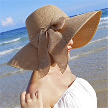 Fashion Summer Women's Ladies' Foldable Wide Large Brim Floppy Beach Hat Sun Straw Hat Cap Elegant For Travelling Holiday CM001 cool summer knotted rope casual holiday travelling sunscreen sun hat for women