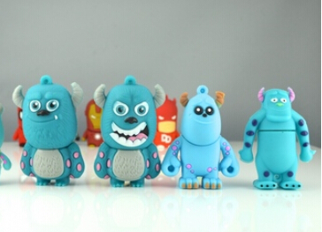 100% real capacity monster Sulley USB Flash Drives thumb pen drives memory stick promotion gift4G 8G16Gpendriveping S12